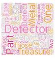 Metal Detector Parts text background wordcloud vector image vector image