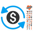 money turnover icon with dating bonus vector image vector image