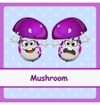 Mushroom funny characters on a blue background vector image
