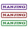 nanjing watermark stamp vector image vector image