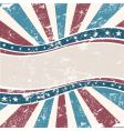 old American wave background grunge vector image vector image