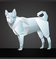 origami white dog vector image
