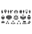 people group icon persons silhouettes vector image