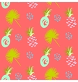 pineapple abstract exotic coral seamless vector image vector image