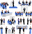 Public Speaking People Flat Icons Collection vector image vector image