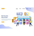 recycling solution website landing page vector image vector image