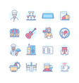 restaurant - modern line design style icons set vector image