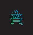 road blocker icon design vector image