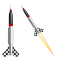 Rockets on a white background vector image vector image