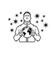 save world from corona virus vector image