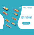 sea freight logistics ship vector image vector image