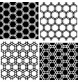 seamless hexagons patterns vector image vector image