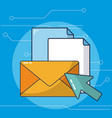 sending email concept vector image