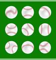 set of baseball balls vector image vector image