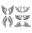Set of wings tattoo vector image vector image
