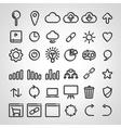 set seo icons vector image vector image