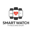 smart watch logo for fitness and sport vector image vector image