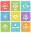 summer holidays design elements and typography vector image