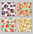 vegetables pattern set2 vector image vector image