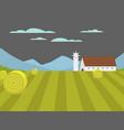 village landscapes farm house vector image vector image