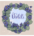 Violet round pattern vector image vector image