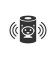 voice assistant icon in flat style smart home vector image vector image