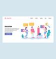 web site gradient design template school vector image