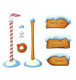Wooden sign post elements