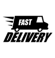 black fast delivery icon vector image