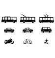 Public Transportation Icons vector image