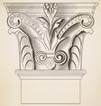 engraving column vector image