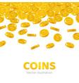 rain gold dollars cartoon frame vector image