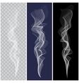 Set of realistic white smoke vector image