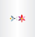bee and flower symbol vector image