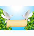 Doves with banner vector image