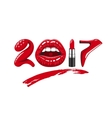 2017 year woman vector image vector image