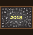 2018 plan vector image vector image