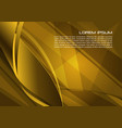 abstract background with spiral in gold color vector image