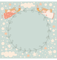 Angels wreath vector image vector image