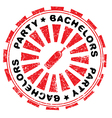 bachelors party stamp vector image vector image