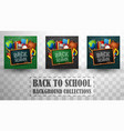 back to school background collections vector image vector image