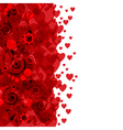 Background of hearts and flowers vector image