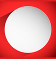 background with blank circle badge casting shadow vector image