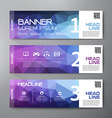 Banners set for business modern design vector image vector image