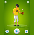 baseball character concept vector image vector image