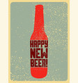 beer typographic vintage grunge christmas card vector image