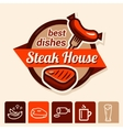 best steak logo vector image vector image