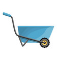 blue wheelbarrow icon cartoon style vector image vector image