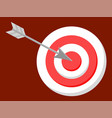 bullseye and target arrow in circle center vector image vector image
