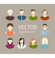 Business and office people flat icons vector image vector image